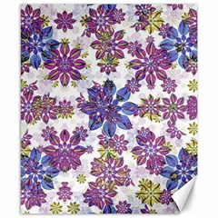 Stylized Floral Ornate Pattern Canvas 8  x 10