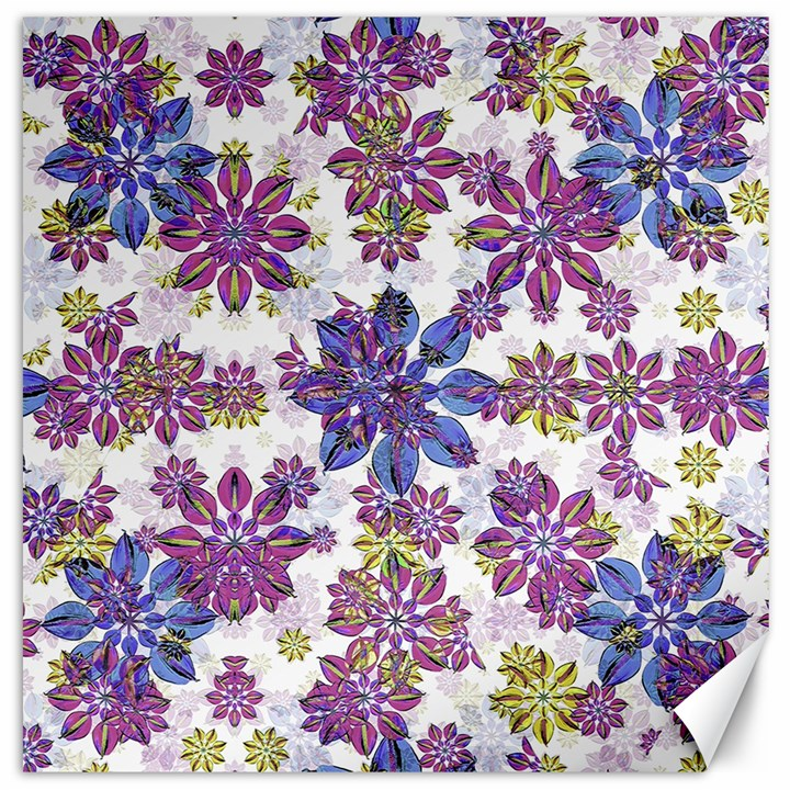 Stylized Floral Ornate Pattern Canvas 12  x 12