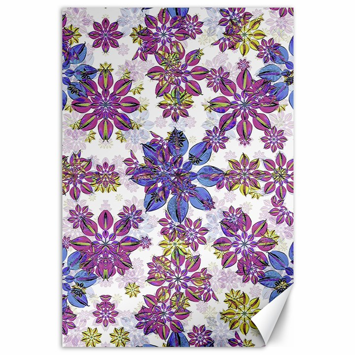 Stylized Floral Ornate Pattern Canvas 12  x 18