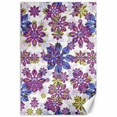 Stylized Floral Ornate Pattern Canvas 24  X 36