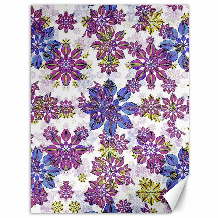 Stylized Floral Ornate Pattern Canvas 36  x 48