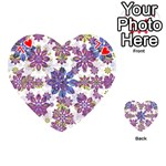 Stylized Floral Ornate Pattern Playing Cards 54 (Heart)  Front - Heart7