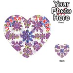 Stylized Floral Ornate Pattern Playing Cards 54 (Heart)  Front - Joker2