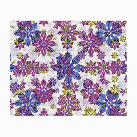 Stylized Floral Ornate Pattern Small Glasses Cloth (2-Side)