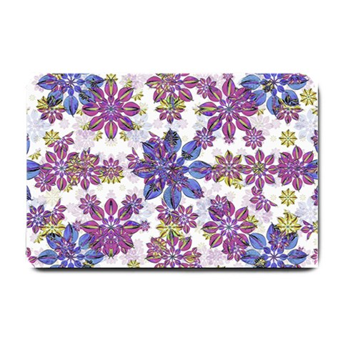Stylized Floral Ornate Pattern Small Doormat
