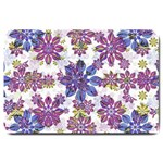 Stylized Floral Ornate Pattern Large Doormat  30 x20 Door Mat - 1