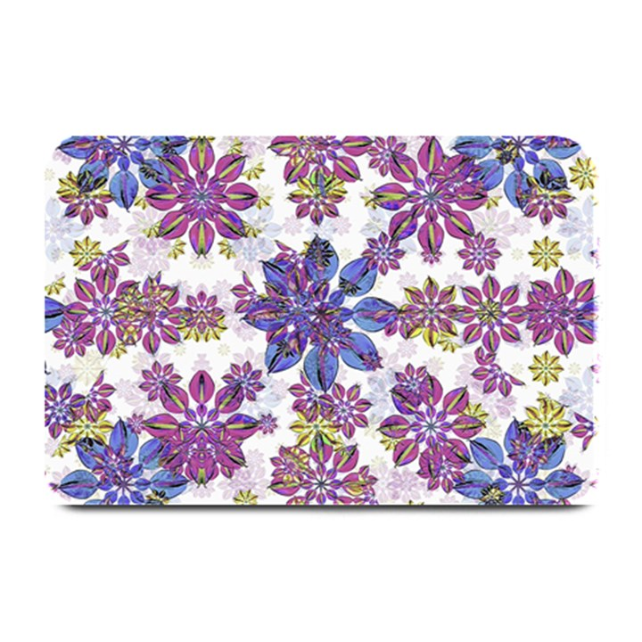 Stylized Floral Ornate Pattern Plate Mats