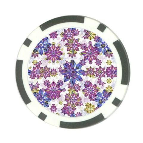 Stylized Floral Ornate Pattern Poker Chip Card Guards