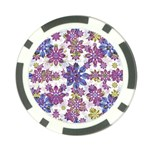 Stylized Floral Ornate Pattern Poker Chip Card Guards Front