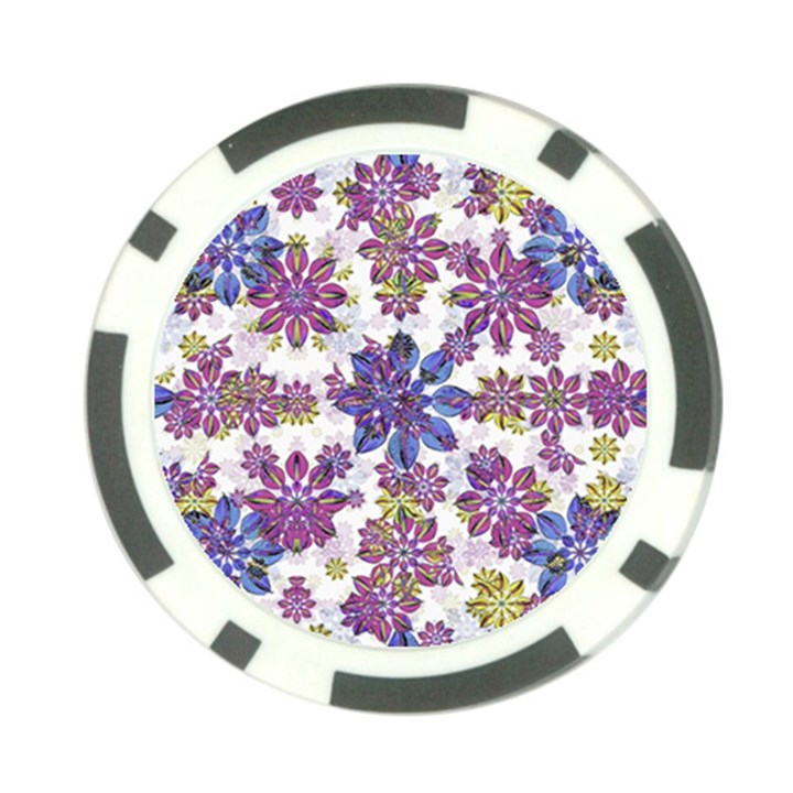 Stylized Floral Ornate Pattern Poker Chip Card Guards