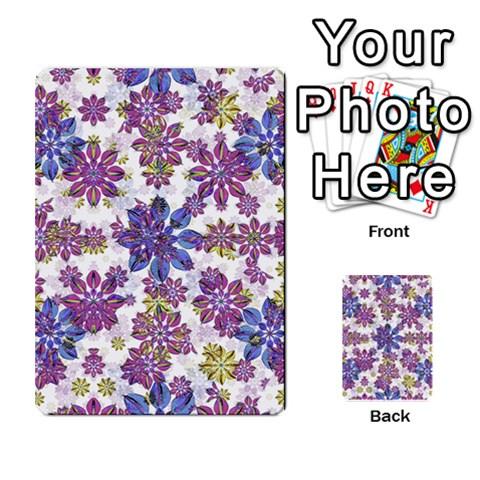 Stylized Floral Ornate Pattern Multi-purpose Cards (Rectangle)