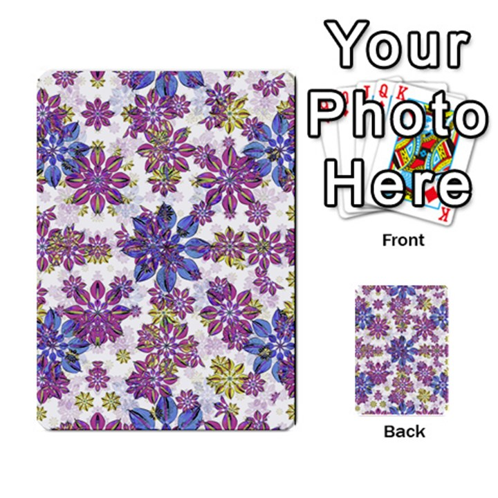 Stylized Floral Ornate Pattern Multi-purpose Cards (Rectangle)