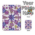 Stylized Floral Ornate Pattern Multi-purpose Cards (Rectangle)  Back 9