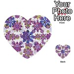 Stylized Floral Ornate Pattern Multi-purpose Cards (Heart)  Back 1