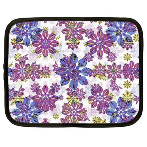 Stylized Floral Ornate Pattern Netbook Case (Large)