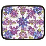 Stylized Floral Ornate Pattern Netbook Case (Large) Front