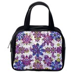 Stylized Floral Ornate Pattern Classic Handbags (One Side) Front
