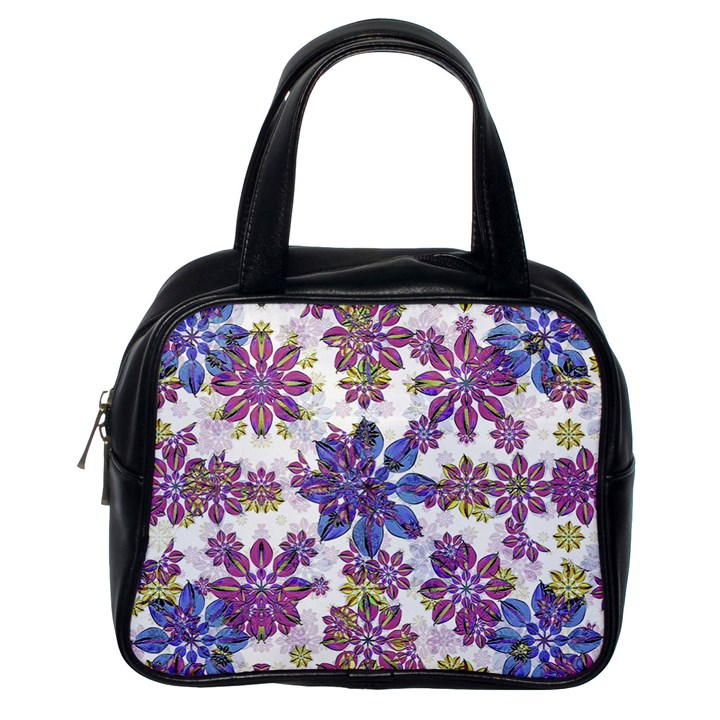Stylized Floral Ornate Pattern Classic Handbags (One Side)
