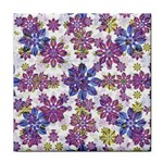 Stylized Floral Ornate Pattern Face Towel Front