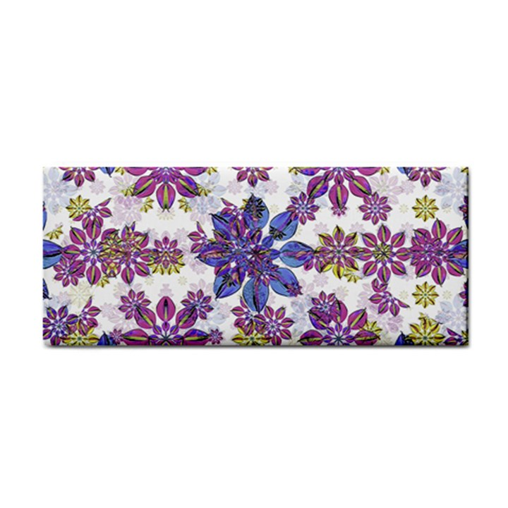 Stylized Floral Ornate Pattern Hand Towel