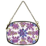 Stylized Floral Ornate Pattern Chain Purses (Two Sides)  Back