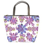 Stylized Floral Ornate Pattern Bucket Bags Front