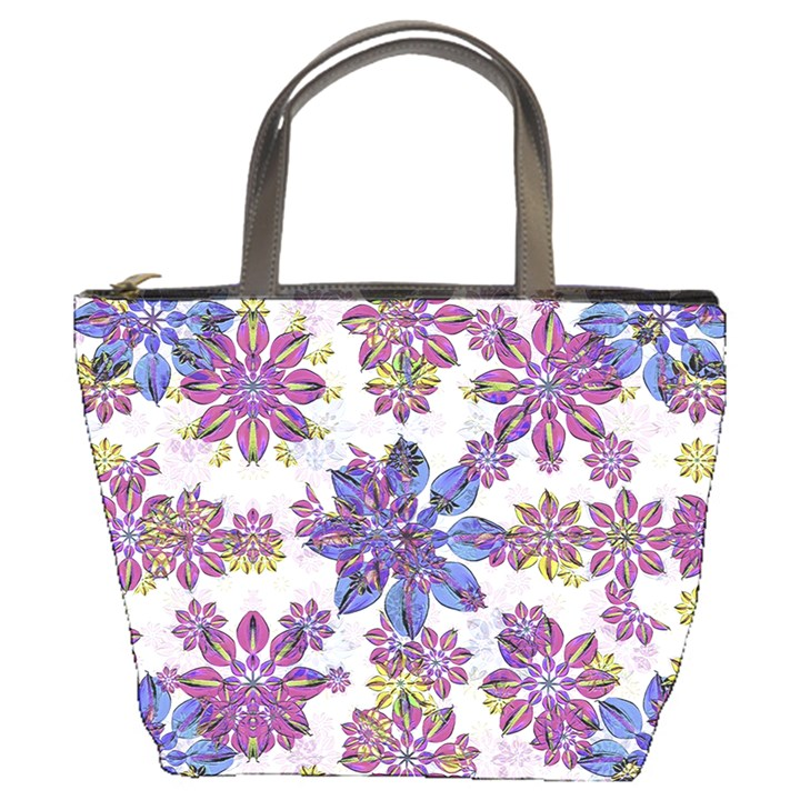 Stylized Floral Ornate Pattern Bucket Bags