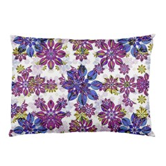Stylized Floral Ornate Pattern Pillow Case