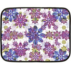 Stylized Floral Ornate Pattern Fleece Blanket (Mini)