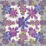 Stylized Floral Ornate Pattern Mini Canvas 6  x 6  6  x 6  x 0.875  Stretched Canvas