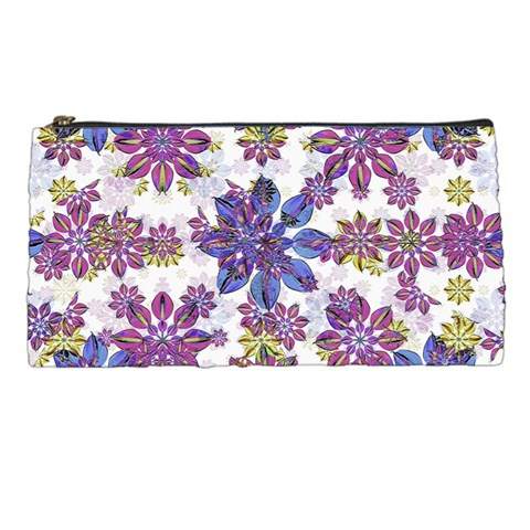 Stylized Floral Ornate Pattern Pencil Cases