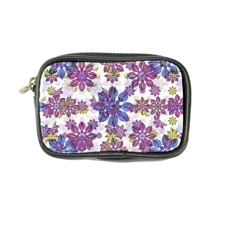 Stylized Floral Ornate Pattern Coin Purse
