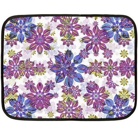 Stylized Floral Ornate Pattern Double Sided Fleece Blanket (Mini)
