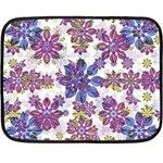 Stylized Floral Ornate Pattern Double Sided Fleece Blanket (Mini)  35 x27 Blanket Back