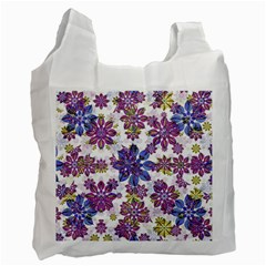 Stylized Floral Ornate Pattern Recycle Bag (one Side)