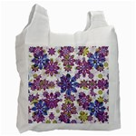 Stylized Floral Ornate Pattern Recycle Bag (Two Side)  Front