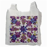Stylized Floral Ornate Pattern Recycle Bag (Two Side)  Back