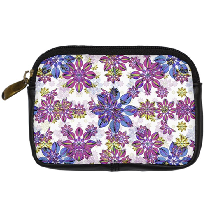 Stylized Floral Ornate Pattern Digital Camera Cases