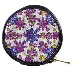 Stylized Floral Ornate Pattern Mini Makeup Bags