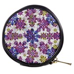 Stylized Floral Ornate Pattern Mini Makeup Bags Front