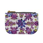 Stylized Floral Ornate Pattern Mini Coin Purses Front