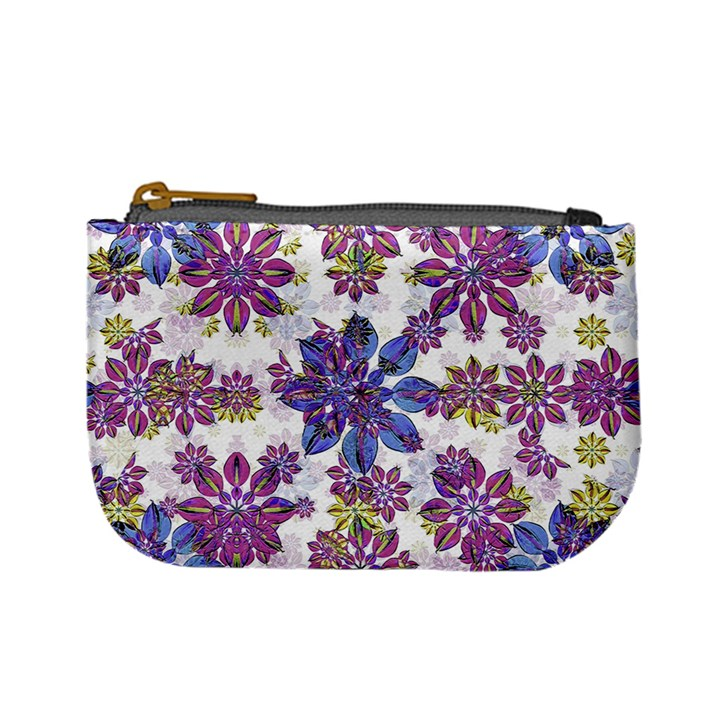 Stylized Floral Ornate Pattern Mini Coin Purses