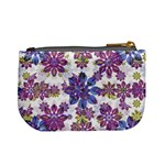 Stylized Floral Ornate Pattern Mini Coin Purses Back