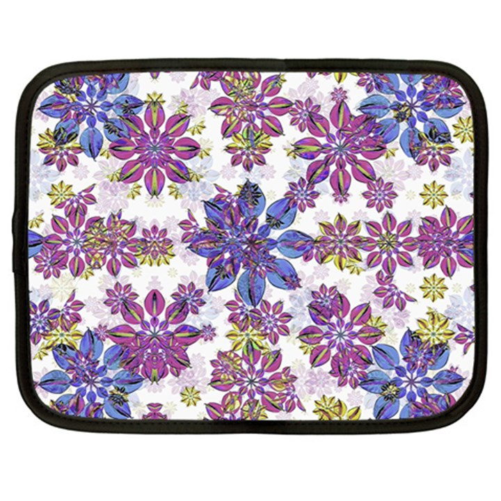 Stylized Floral Ornate Pattern Netbook Case (XXL)