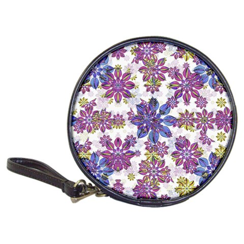 Stylized Floral Ornate Pattern Classic 20-CD Wallets