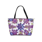 Stylized Floral Ornate Pattern Shoulder Handbags Front