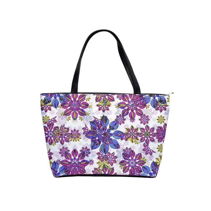 Stylized Floral Ornate Pattern Shoulder Handbags