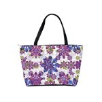 Stylized Floral Ornate Pattern Shoulder Handbags Back