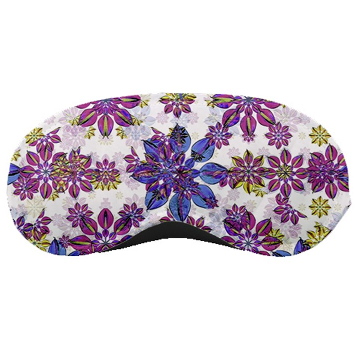 Stylized Floral Ornate Pattern Sleeping Masks