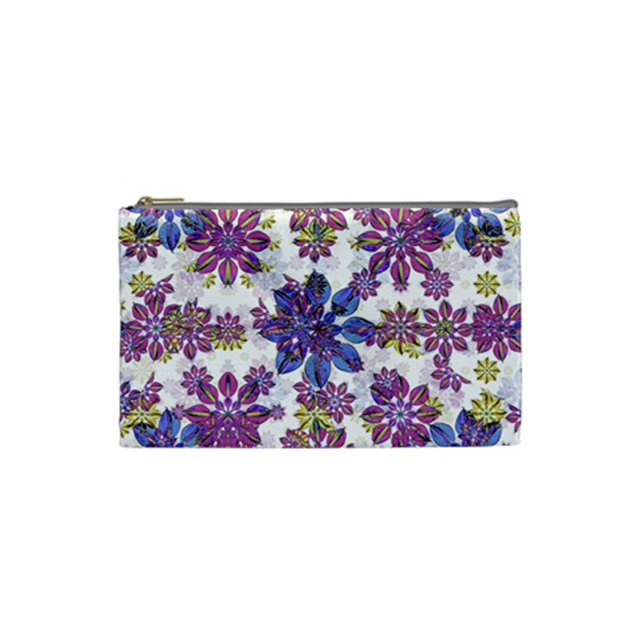 Stylized Floral Ornate Pattern Cosmetic Bag (Small)